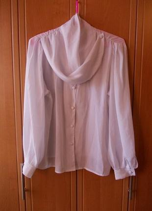 Легкая шифоновая белая блузка