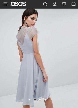 Изысканное платье с кружевной спинкой от asos