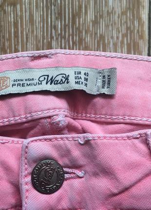 Персиковые джинсы от zara