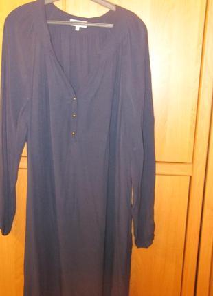 Вискозное т-синее платье 54-56 размера