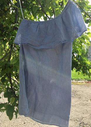 Стильное платье сарафан с воланом