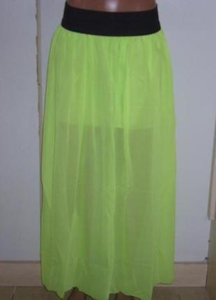 Летняя юбка шифон в пол