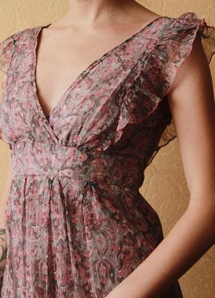 Платье с рюшами naf naf