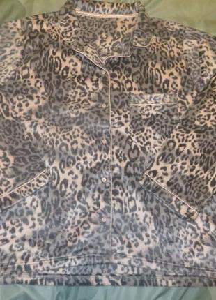 Теплая пижамная кофта на шикарные формы р.20-22