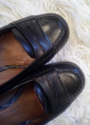 Кожаные фирменные туфли лоферы marc o'polo