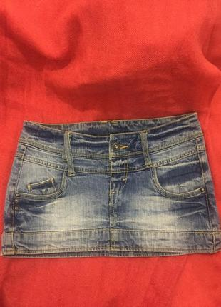 Супер мини юбочка джинсовая