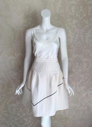Chanel оригинал шелковая юбка