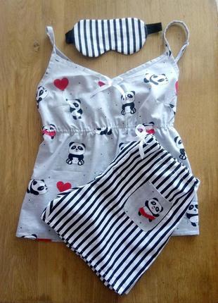 Пижама с масочкой для сна