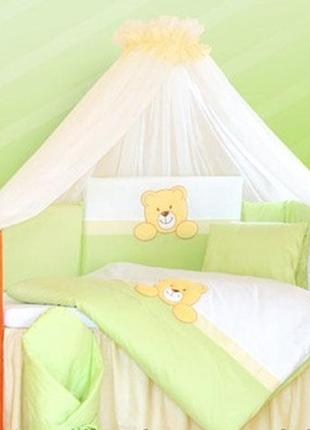 Детская постель 7 ед. tuttolina teddy bear