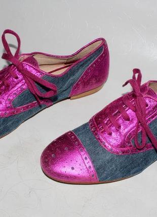 Стильные кожаные туфли/ броги / оксфорды 39 р. от бренда аndre, испания, натуральная кожа