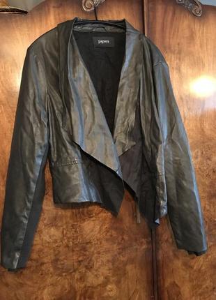 Куртка , курточка , еко шкіра,' эко кожа ,весняна , чорная,  чорна
