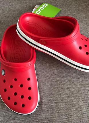 Crocs crocband кроксы red ( красные) размеры в наличии
