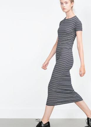 Платье миди ф. zara р. s-m