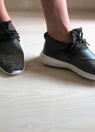 Новые стильные кроссовки носки defended london хаки сникерсы кеды5