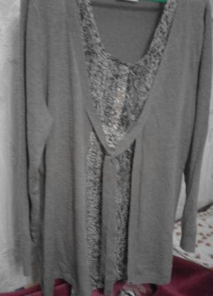 Очень оригинальная блуза с шифоновой вставкой