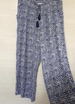 Актувльные летние котоновые брюки палаццо, юбка-брюки,штаны в стиле кэжуал