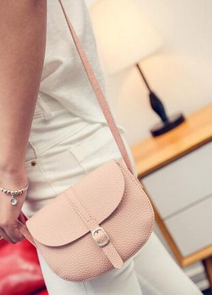 Красивая сумочка-клатч мини, цвет пудра