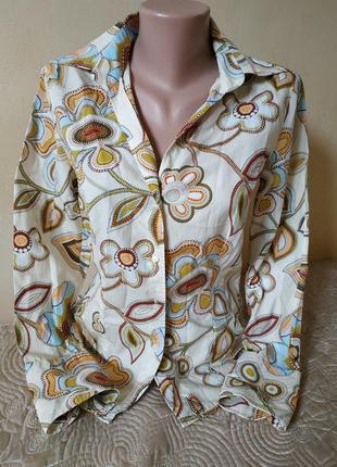 Шикарная рубашка/блуза в принт от jacques britt