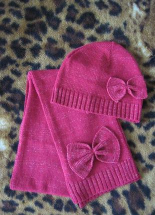 Комплект шапочка и шарф демисезонный фирмы george 4-8 лет 104-128 см.