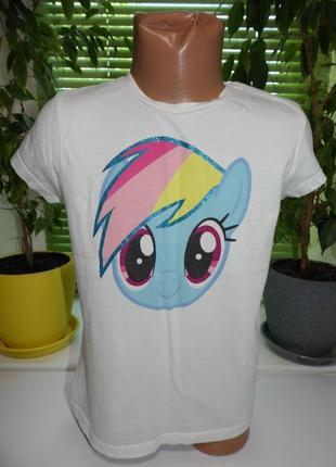 Футболка littly pony 5-6лет