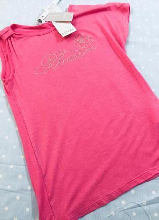 Футболка майка розовая с надписью 5-6,9-10,11-12лет
