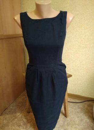Льняное строгое платье atmosphere, xs размер