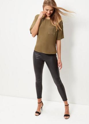 🖤плотная блуза с сатиновым карманом new look🖤