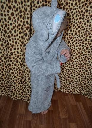 Me to you халат детский теплый домашний костюм мишка 6-7 лет