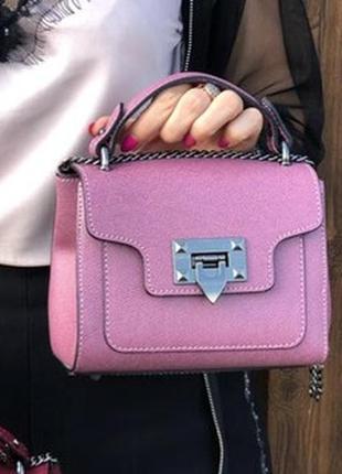 Женская сумочка из натуральной кожи, клатч, итальянская кожа