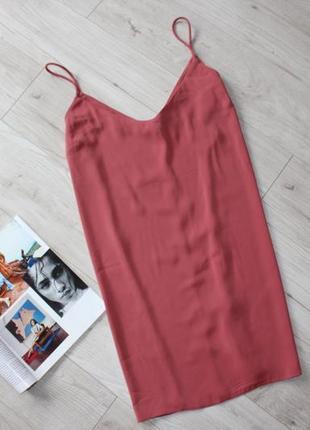 Шикарное платье в бельевом стиле на тонких бретелях цвет пудры ххл 16 18