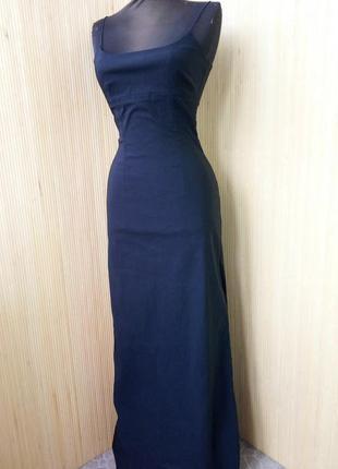Чёрное длинное вечернее платье pimkie  xs/s