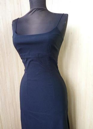 Чёрное длинное вечернее платье pimkie  xs/s2