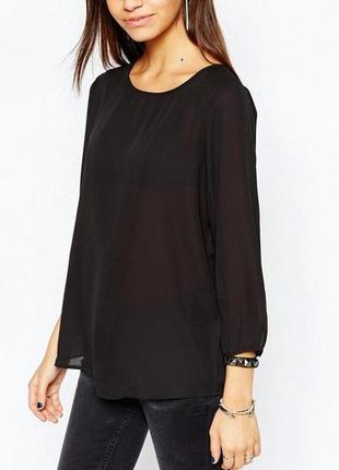 Блуза с asos блузка черная рукав три четверти туника свободная оверсайз кофточка кофта