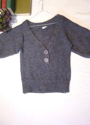 Очень теплый свитер широкий рукав ethel austin крупная вязка