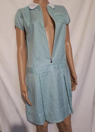 Платье миди в клетку платье-поло marks & spencer для девочек xs-s распродажа