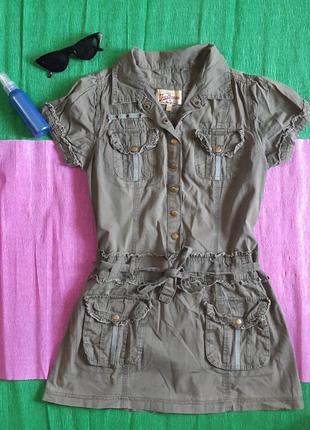 Пляжное летнее платье-туника