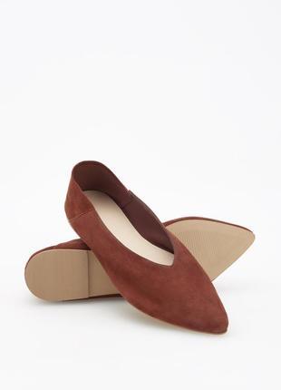 Очень классные мягкие замшевые туфли лодочки от reserved