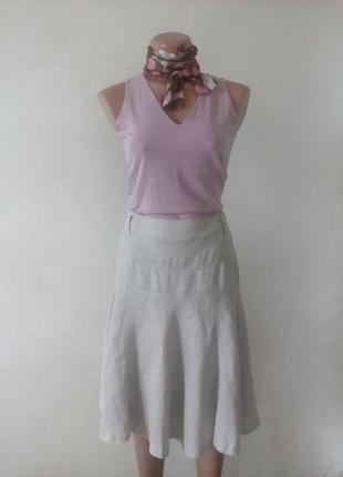 Льняная юбка миди zara