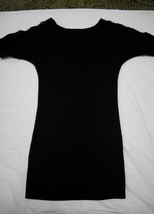 Чёрное трикотажное платье классика