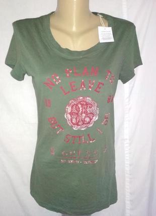 Guess классная футболка с принтом,р.42