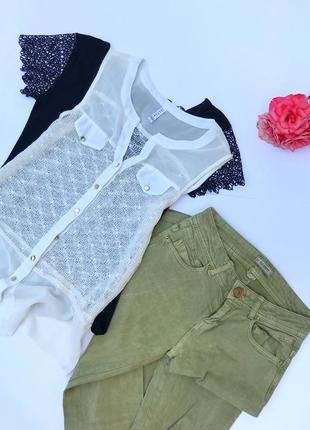 Белоснежная блуза нежная с золотыми пуговками от lily garden
