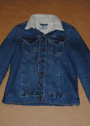 New look sherpa джинсовка, джинсовая куртка на меху