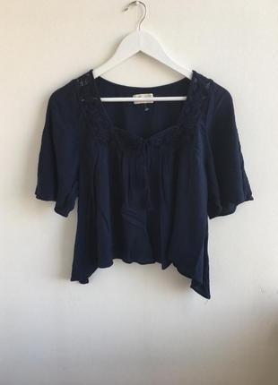 Блуза оверсайз в бохо этно стиле hollister