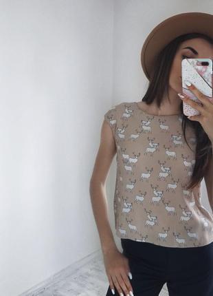 Стильна блуза базова майка zara s