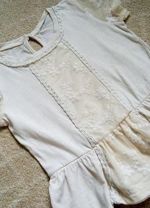 Big sale! романтичная блузка блузон туника футболка на 2-5 лет