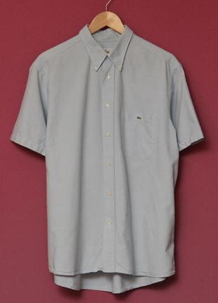 Lacoste рубашка короткий рукав, нагрудный карман. рр l оригинал.