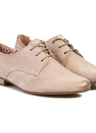 Кожаные туфли оксфорды tamaris