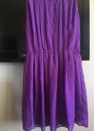 Платье шифон цвет ягодный