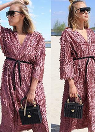 Вечернее  платье - халат из роскошной турецкой ткани ! платье для шикарной девушки !