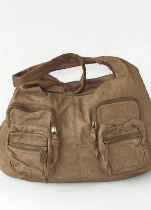 Большая крутая сумка cntmp, италия, натуральная кожа